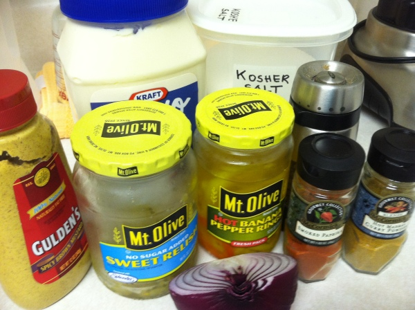 What you  need to make Spicy Salad Dressing...