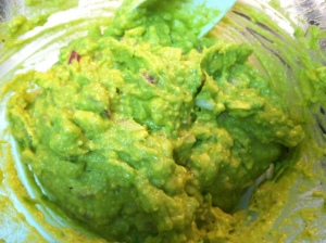 Mash avocados with a potato masher or with a fork.