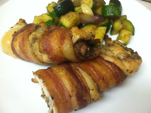 Tapenade Stuffed Chicken Wrapped in Bacon