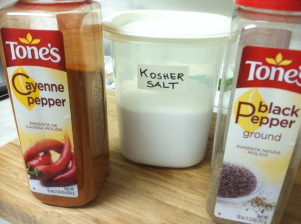 kosher salt and spices