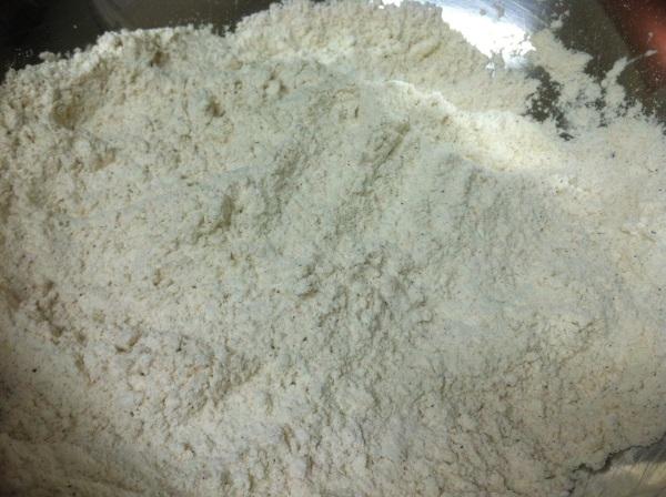 combine breading ingredients.