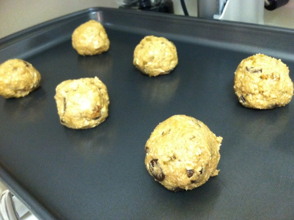 Bake no more than 6 large cookies per pan.