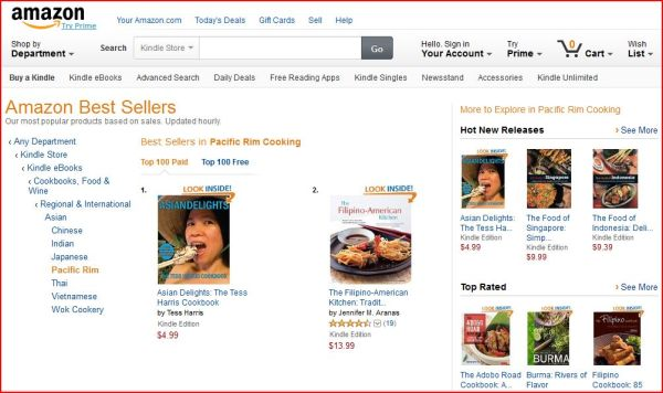 Asian Delights Kindle #1 Best Seller Pacific Rim2