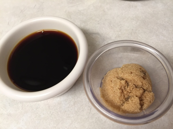 brown sugar and soy sauce